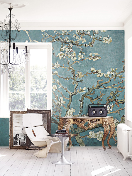Wallpaper Painted Cherry Blossom