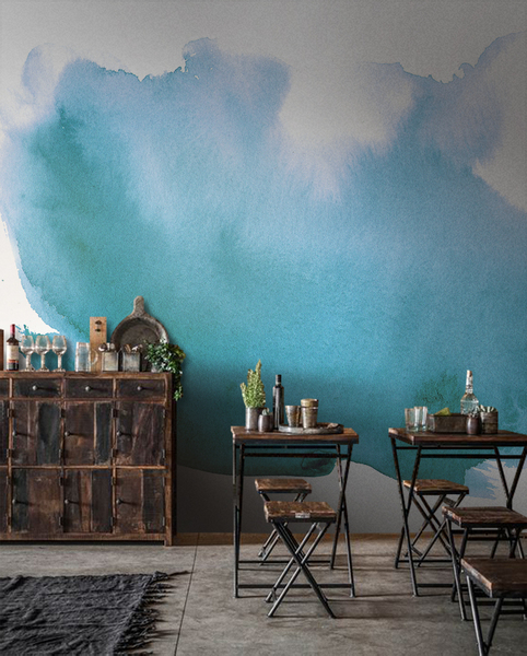 Banana Paradise removable wallpaper leaves wall mural Watercolor decor