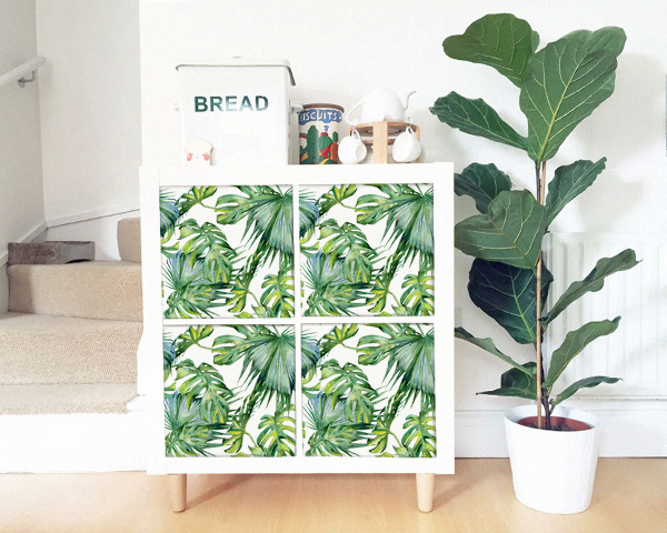 Ikea Kallax Decals Tropical Exotic Leaves