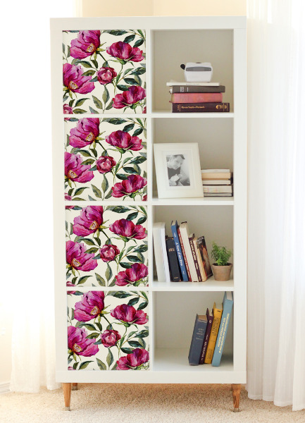 Ikea Kallax Decals Floral Colorful