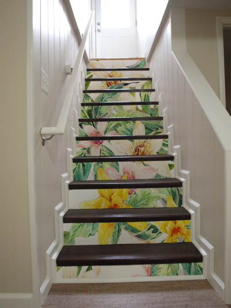 Stair decals Exotic Flowers