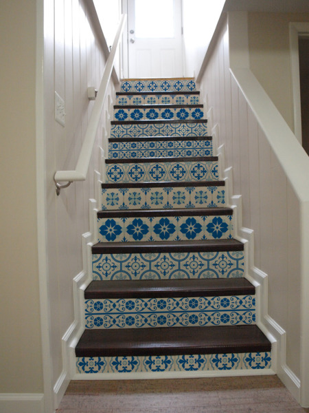 Stair decals Chinese Porcelain Beauty