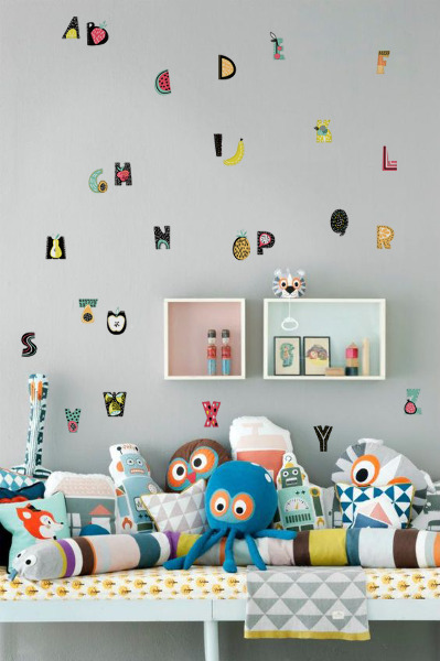 Wall decals Fruity Alphabet