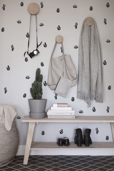 Wall decals Black and White Cacti
