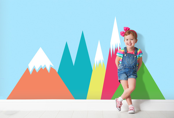 Wall decals Colorful Mountains