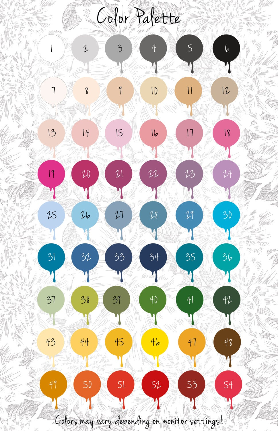 Wall Decals Color Palette