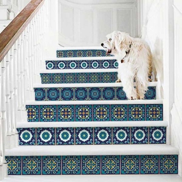Mandala stair decals